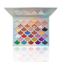 Buy cheap Mermaid Shell Shape High Pigmented Glitter Eyeshadow 32 Color Eyeshadow Palette from wholesalers