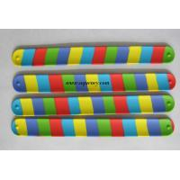 Buy cheap Hot selling silicone slap bracelet,wrist slapper,slap on band,various color silicone snap bracelet product