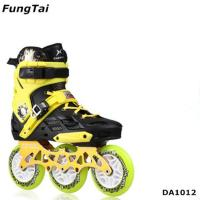 Buy cheap Mens Inline Skate Shoes Women 4 Wheels Roller Patins Adults Blades 2 in 1 Skating Shoes 110mm Wheels Blue Color (DA1014) product