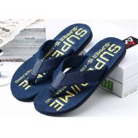 Buy cheap Summer Womens Thong House Slippers , Plastic Flip Flops With Fashion Letters Printed product