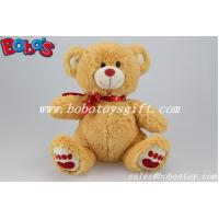 Buy cheap Factory Made Brown Lovely Stuffed Valenines Day Teddy Bear With Red Heart Printing Ribbon product