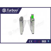 Buy cheap Access Control Flap Barrier Gate / Electronic Turnstile Gates Infrared Sensors product