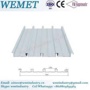 Buy cheap Steel floor deck for steel structure building WMT 51-190-760 product