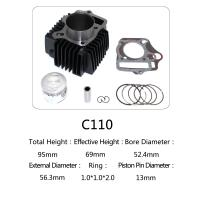 Buy cheap Original Motorcycle Cylinder Kit C110 For Dayang Motor , Motorcycle Engine Parts product