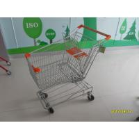 China 100L Wire Shopping Trolley / Wire Mesh Supermarket Shopping Trolley with CE SGS wholesale