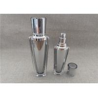 Buy cheap Sliver Cap Refillable Pump Bottles , Empty Lotion Containers 60 / 120G product