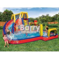 China Mobile Attraction Inflatable Water Park Equipment , Splash Water Park For Little Kids on sale