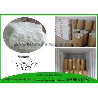 Buy cheap CAS 62-44-2  Painkiller Local Anesthetic Drugs Phenacetin , Acetophenetidin White Powder product