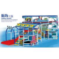 Buy cheap Indoor soft playground in blue design  for kids with sailing theme product