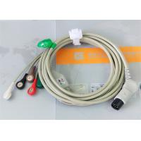Buy cheap TPU Material Patient Monitor Accessories One Piece ECG Cable Compatible M&B product