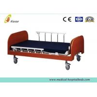 China Manual Medical Hospital Adjustable Beds / Nursing Home Bed Wooden Two Cranks (ALS-HM001) wholesale