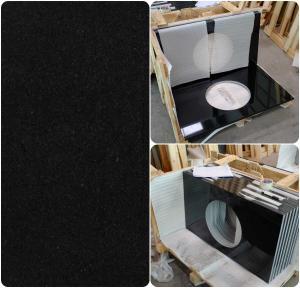 Buy cheap Black Natural Granite Countertops , High Density Solid Black Granite Countertops product