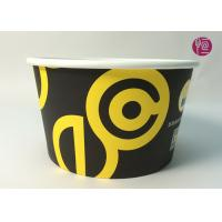 Buy cheap 185mm Round Printed Paper Salad Bowls Take Away With PET Lid product