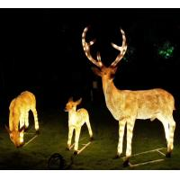 Buy cheap Outdoor large Glass fiber reinforced plastic reindeer modelling lamp 3D Christmas reindeer motif decorations Lights product