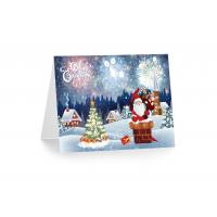 Buy cheap Greeting Card Lenticular Printing Services PP Plastic X-mas Design product