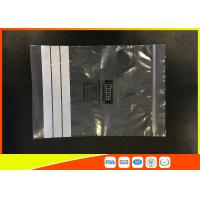 Buy cheap Customized Polyethylene Zip Bags / PE Zip Bags With Great Clarity product