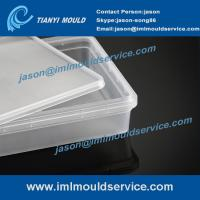 Buy cheap take away rectangular food containers mould, plastic disposable containers with lids molds product