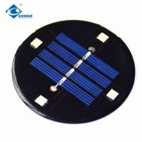 Buy cheap 0.4W Mini Solar Panels Φ68X2.5mm Size With High Cell Efficiency CE Approval product