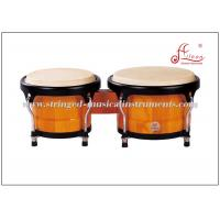 Buy cheap Latin Percussion Instruments , White toon wood Black Powder Coated African Bongo Drum product