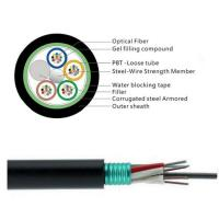 Buy cheap GYTS 32 Cores Fiber Cable/Aerial fiber optic cable installation is a complicated and time-consuming work. product