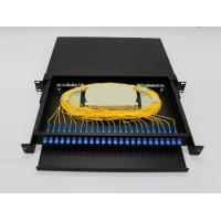 Buy cheap Light Weight Fiber Optic Terminal Box 24 Ports FTTH Rack Drawer Type With Patch Panel product