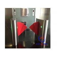 Buy cheap 90CM width Sliding Card Double Wing access control barriers with automatic sensor from wholesalers