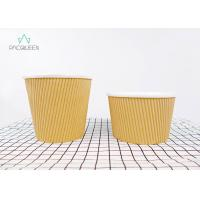 Buy cheap Ripple Paper Brown Takeaway Food Containers Soup Cups Eco - Friendly product