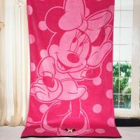 Quality Plain Woven Jacquard Beach Towel Minnie Mickey Mouse Reactive Printed for sale