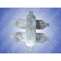 Zinc anode sacrificial zinc alloy for cathodic protection