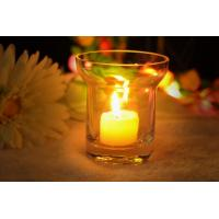 Buy cheap 7Oz Mouth Blown Clear Decorating Glass Candle Holders , Astm product