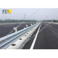 Buy cheap Impact Resistance W Beam Crash Barrier , Wave Steel Traffic Guard Rails product