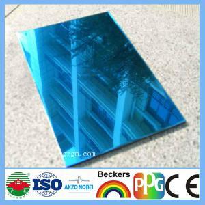 Buy cheap bule mirror aluminum composite panel from wholesalers