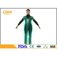 Buy cheap PE Disposable Medical Aprons Plastic Gown Without Sleeves For Hospital / Industrial product