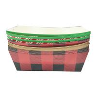 Buy cheap Hot Dog Paper Food Trays Coated Paperboard Basket Ideal for Festival Optional Logo product