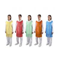 Buy cheap Colorful Round Neck Disposable Plastic Aprons For Hospital / Restaurant / Kitchen product