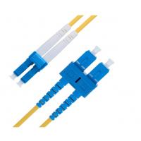 Buy cheap Duplex 9 Ft  LC To SC Single Mode Fiber Patch Cable 2.0 Mm OS1 Series product