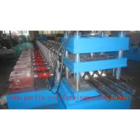 Buy cheap PLC Control Crash Barrie Guardrail Roll Forming Machine , Highway Guardrail Making Line product