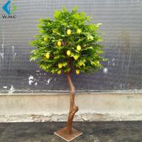 Buy cheap 1.2m Height Artificial Lemon Tree , Fake Fruit Tree Anti Ultra Violet product