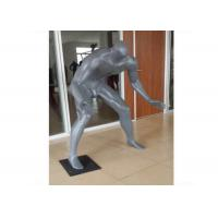 Buy cheap Gray Adults Sports Plus Size Retail Display Mannequins Fiberglass For Shopping Mall product