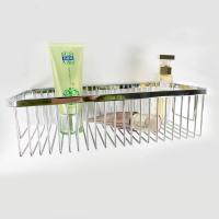 Buy cheap Chrome Layers Stainless Steel Bathroom Accessory Single Corner Shower Wire Basket product