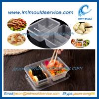 Buy cheap disposable 2 compartment plastic thin wall food container mould with 650ml product