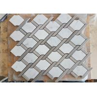 Buy cheap White marble hexagon mosic tile 10mm Thickness For Bathroom / Kitchen product