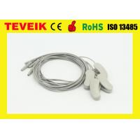 China Pure Silver 1.2 Meter EEG Cable Ear Clip Electrode DIN 1.5 Socket ROHS wholesale