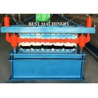 Buy cheap Double Layer Color Coated Roofing Sheet Steel Profile Roll Forming Machine product