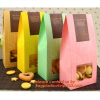 Buy cheap Customize Translucent Window, Brown Greaseproof Kraft Paper Bag, Special Opp Window Bag, window bags, paper window bags, product