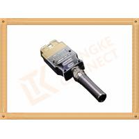 Buy cheap Golden Plated Metal 16 Pin Obd Connector J1962 OBD Male Connecor Housing Strain Relief product