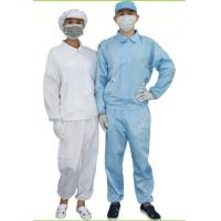 Buy cheap ESD Cleanroom Consumables / Cleanroom Coverall White & Blue Color Optional product