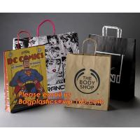 Buy cheap Luxury matte black shopping paper bag with logo UV for clothing packaging product