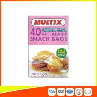 Buy cheap Quick Seal Plastic Ziplock Snack Bags Resealable With Write On Panel product