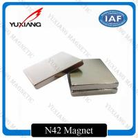Buy cheap Sintered Neodymium Block Magnets Tighter Tolerances For MRI / Wind Generator product